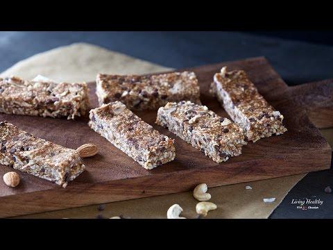 Cookie Dough Granola Bars (Gluten-free, Paleo, Vegan)