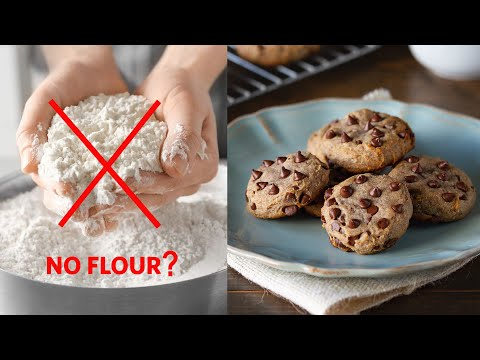 FLOURLESS Chocolate Chip Cookies (with LOTS of chocolate and NO flour)