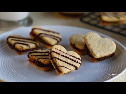 Sandwich Cookies - Vanilla Sandwich Cookies With Chocolate Filling