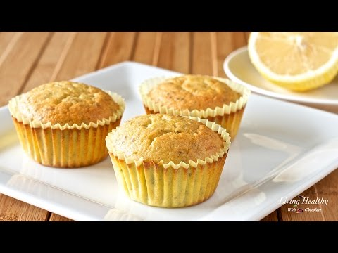 Lemon Chia Seed Muffins (Paleo, Gluten-free, Low-carb)