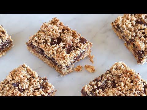 Chocolate Caramel Bars (Vegan, Paleo, Gluten-free)