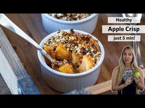 APPLE CRISP   Best healthy recipe (Paleo, Vegan, Gluten-free)