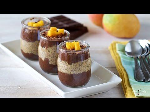 Chocolate Mango Chia Pudding (Gluten-free, Vegan, Paleo)