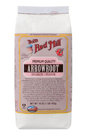 package of Bobs Red Mill arrowroot flour