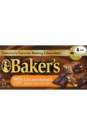 package of unsweetened bakers chocolate