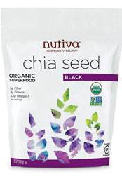 package of Nutiva organic chia seed superfood