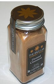 square jar of The Spice Lab ground cinnamon