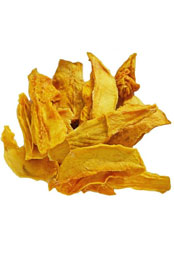 close up of dried mango