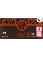 package or equal exchange 70 percent dark Panamanian chocolate