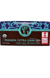 package or equal exchange 80 percent dark Panamanian chocolate