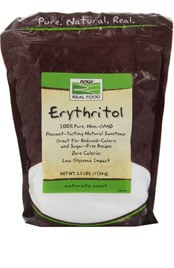 bag of erythritol sweetener
