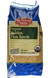 Bag of Arrowhead Mills Organic Golden Flax Seeds