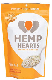 package of Hemp Hearts hemp seeds