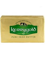 package of Kerrygold pure irish grass-fed butter