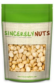 package of Sincerely Nuts macadamia nuts