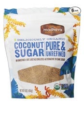 package of Madhava organic coconut sugar