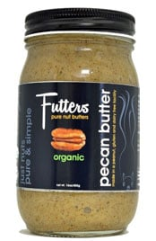 close up of a jar of Futters pecan butter