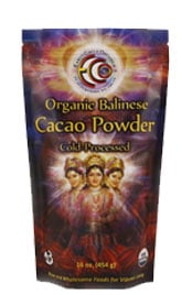 bag of organic balinese cacao powder