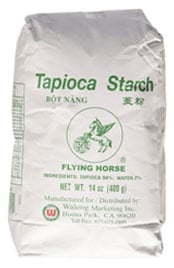 bag of Flying Horse tapioca starch
