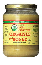 close up of Y.S Organic Bee Farm 100 percent certified organic honey