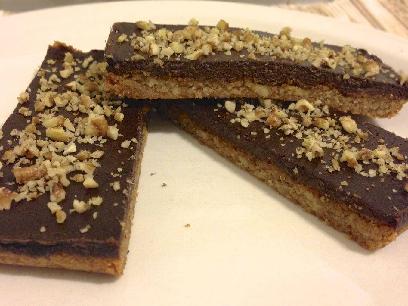 Chocolate Pecan Bars - low carb and grain free - Living Healthy With ...