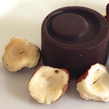 paleo hazelnut cream filled chocolate