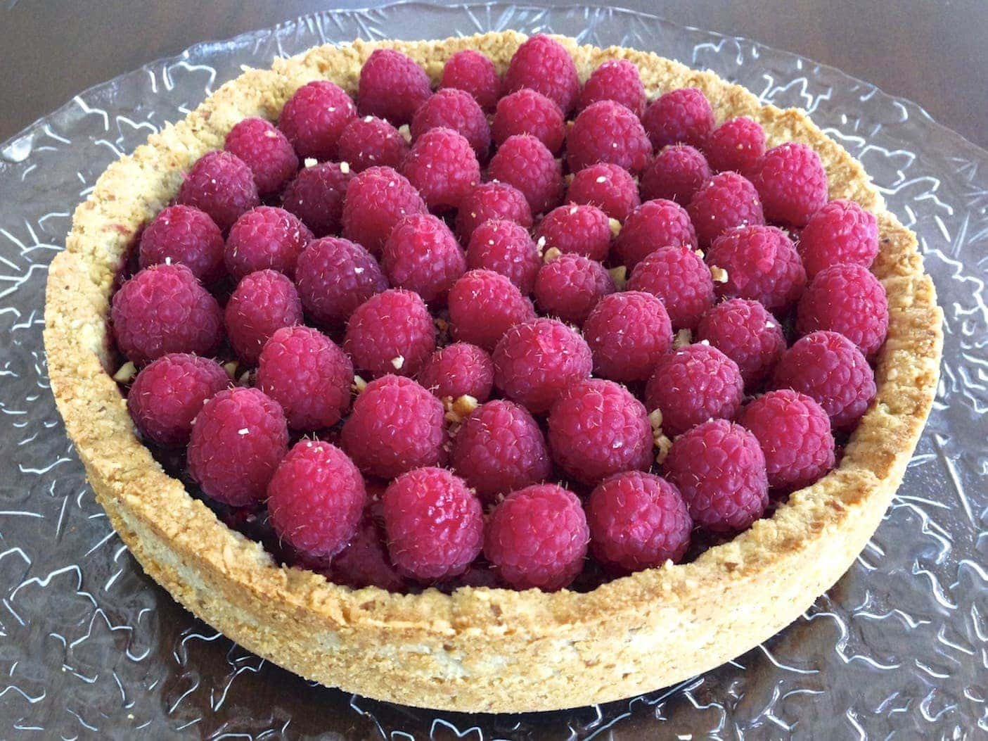 Mix-Berry Tart With Coconut Whipped Cream