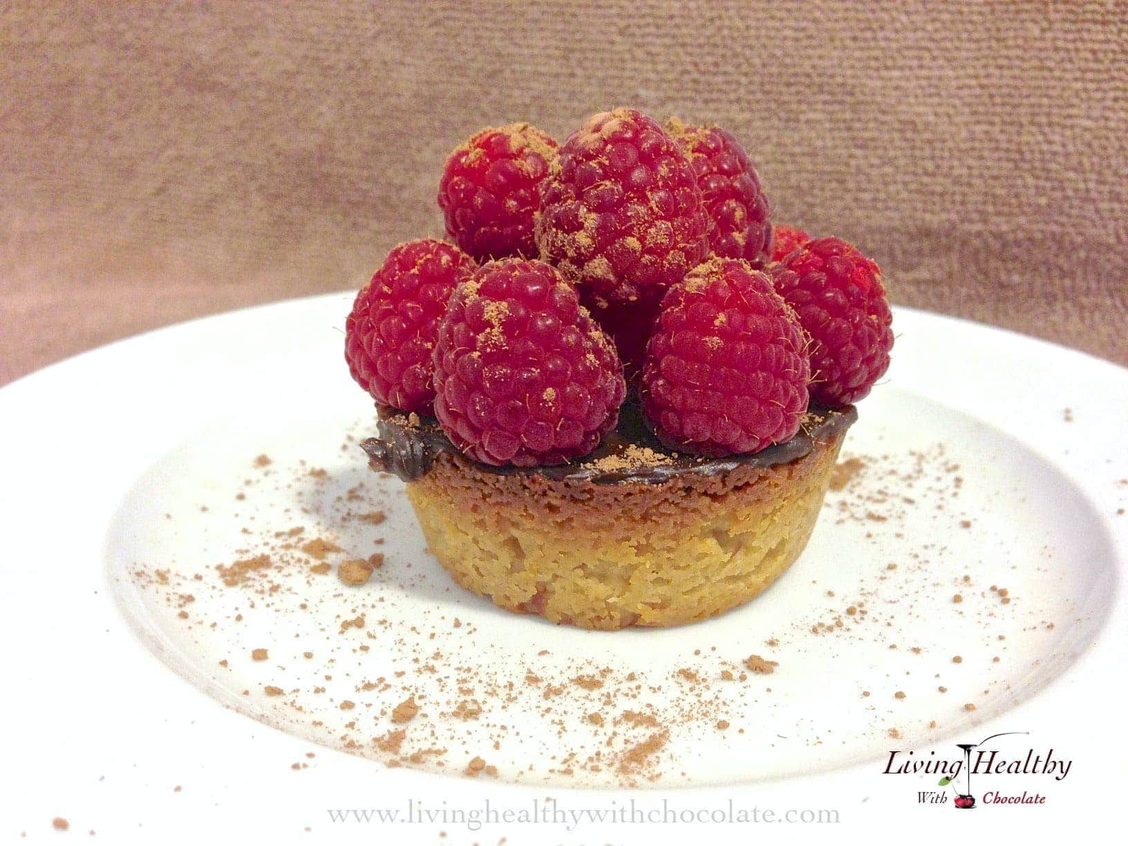Paleo Raspberry Chocolate Tart