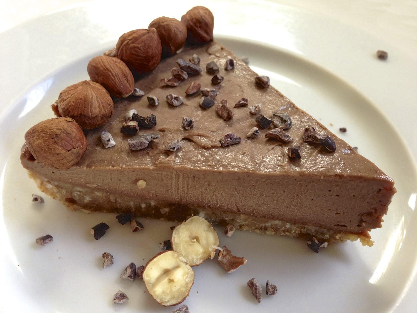 Paleo Chocolate Hazelnut Pie - Living Healthy With Chocolate