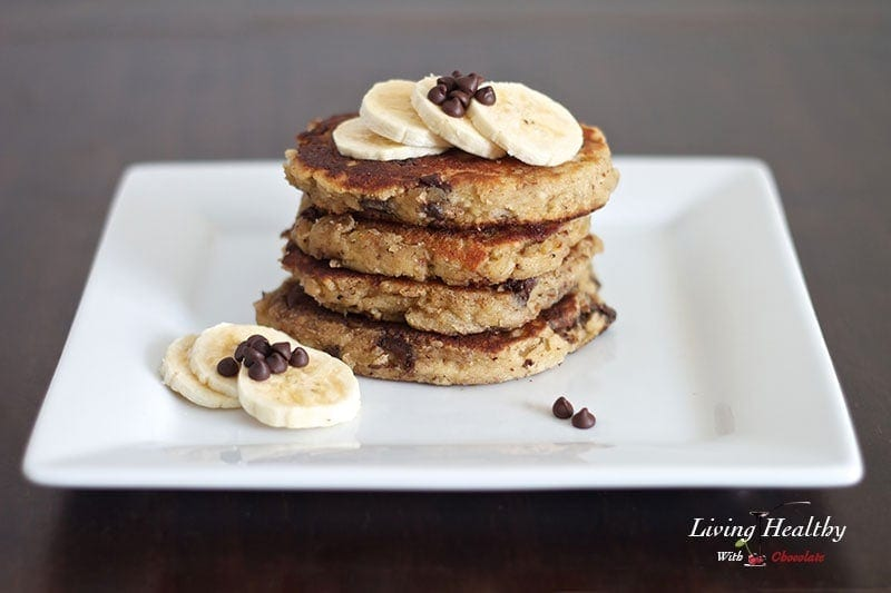 Paleo Chocolate Chip Banana Pancake