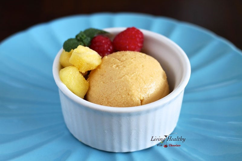 how to make sorbet with 2 ingredients without a blender
