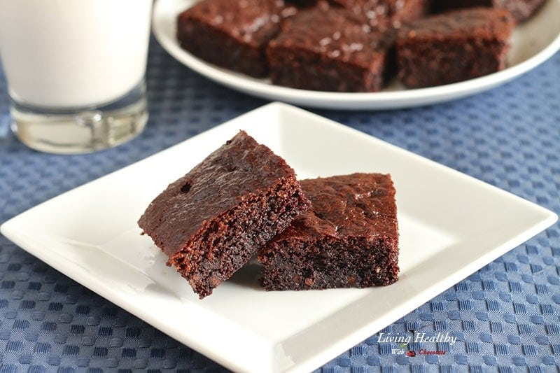 Paleo, Gluten Free Brownies - Living Healthy With Chocolate