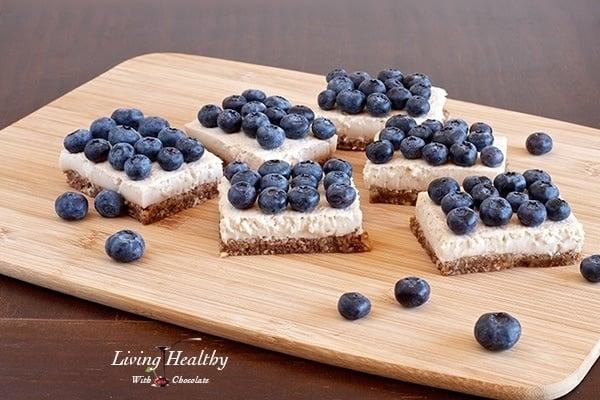 Paleo Blueberry Coconut Cream Pie Squares