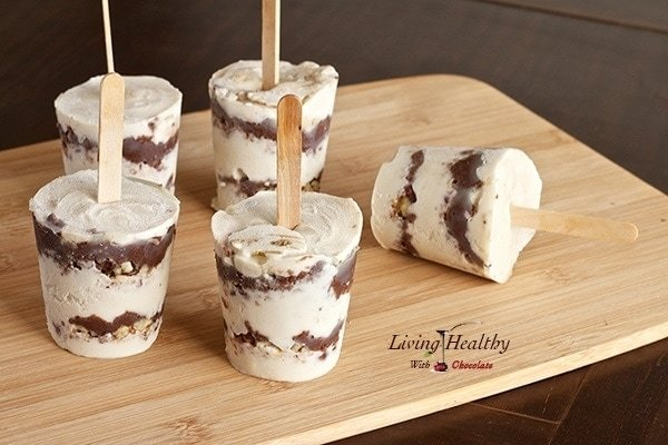 Quot Nutella Quot Layered Ice Cream Pops Living Healthy With