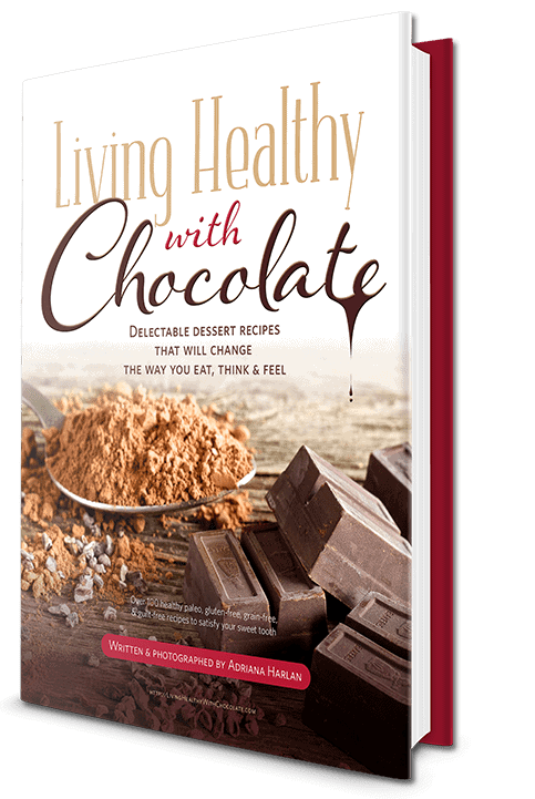 book cover of electronic book Living Healthy with Chocolate written by Adriana Harlan