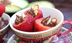 Paleo Chocolate Avocado Stuffed Strawberries 1