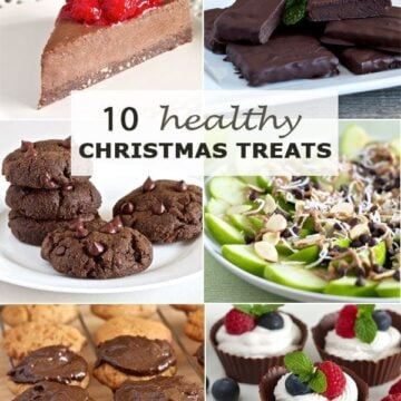 banner showing ten healthy Christmas treats