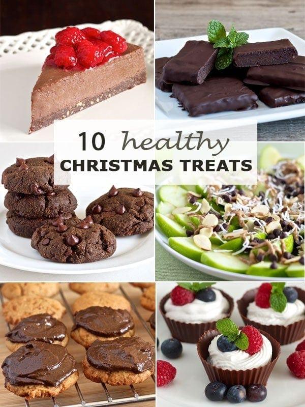 banner showing ten healthy Christmas treats
