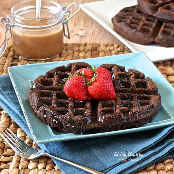 Here is a photo I took of the chocolate waffles after I made them. I ...