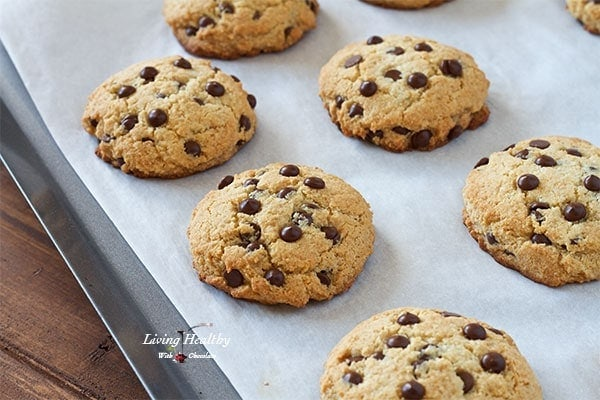 ... chocolate chip cookie. THE perfect Paleo chocolate chip cookie. Watch
