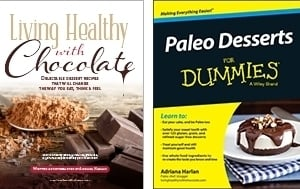 cover of e-book by Living Healthy With Chocolate and Paleo Desserts for Dummies by Adriana Harlan