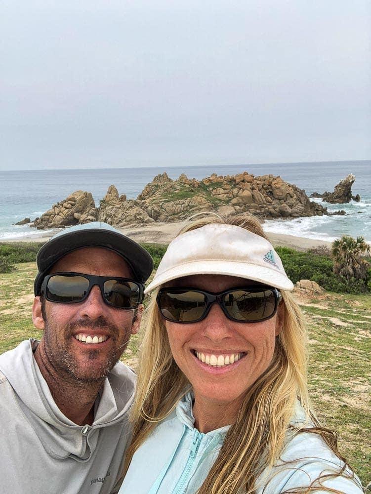 Adriana and Chuck Harlan Surfing Salina Cruz, Mexico