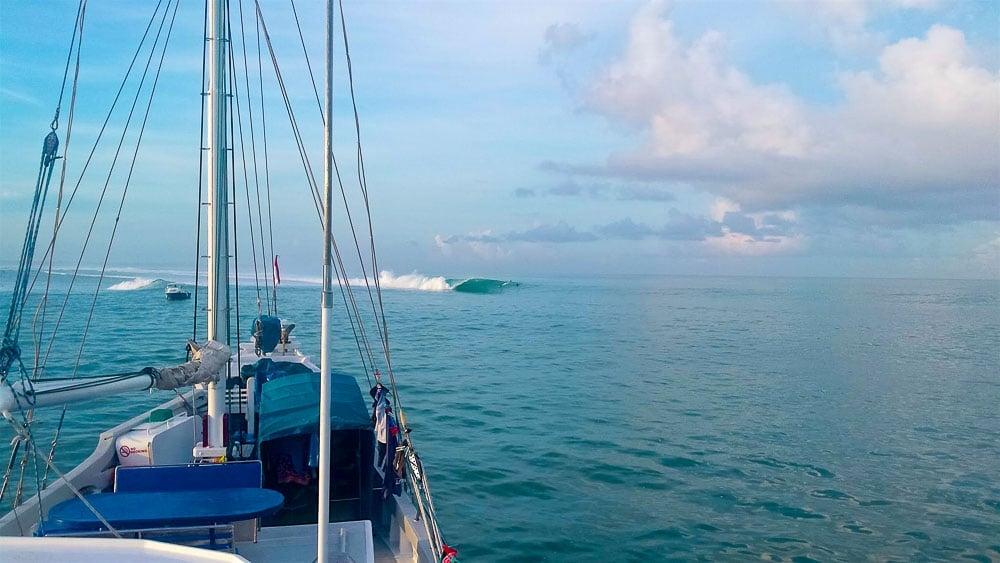Adriana Harlan Surfing Mentawai Island