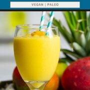 MANGO SMOOTHIE   Easy 3-INGREDIENTS (without yogurt)